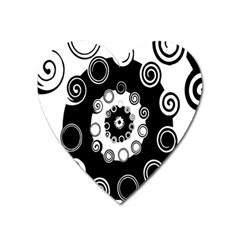 Fluctuation Hole Black White Circle Heart Magnet by Alisyart