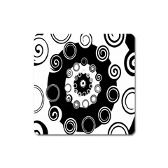 Fluctuation Hole Black White Circle Square Magnet