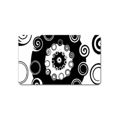 Fluctuation Hole Black White Circle Magnet (name Card)