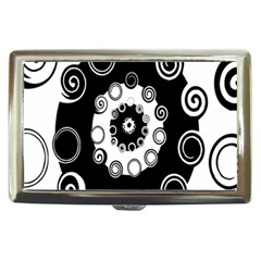 Fluctuation Hole Black White Circle Cigarette Money Cases