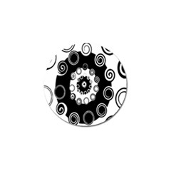 Fluctuation Hole Black White Circle Golf Ball Marker by Alisyart