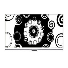 Fluctuation Hole Black White Circle Business Card Holders
