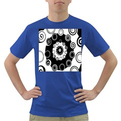 Fluctuation Hole Black White Circle Dark T Shirt