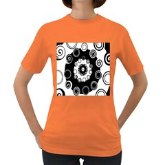 Fluctuation Hole Black White Circle Women s Dark T Shirt