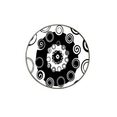 Fluctuation Hole Black White Circle Hat Clip Ball Marker (4 Pack) by Alisyart