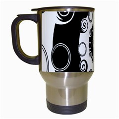 Fluctuation Hole Black White Circle Travel Mugs (white)