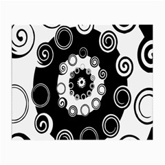 Fluctuation Hole Black White Circle Small Glasses Cloth