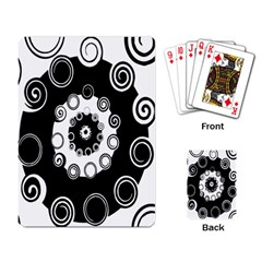 Fluctuation Hole Black White Circle Playing Card