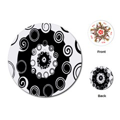 Fluctuation Hole Black White Circle Playing Cards (round)