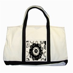 Fluctuation Hole Black White Circle Two Tone Tote Bag by Alisyart