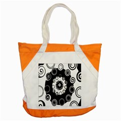 Fluctuation Hole Black White Circle Accent Tote Bag by Alisyart