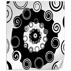Fluctuation Hole Black White Circle Canvas 8  X 10
