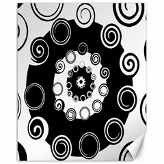 Fluctuation Hole Black White Circle Canvas 16  X 20