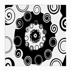 Fluctuation Hole Black White Circle Medium Glasses Cloth