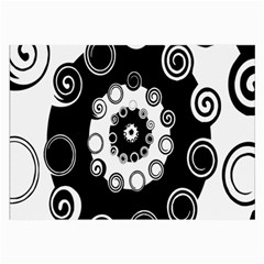 Fluctuation Hole Black White Circle Large Glasses Cloth (2 Side)
