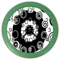 Fluctuation Hole Black White Circle Color Wall Clocks