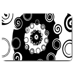 Fluctuation Hole Black White Circle Large Doormat