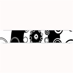 Fluctuation Hole Black White Circle Small Bar Mats