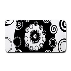 Fluctuation Hole Black White Circle Medium Bar Mats