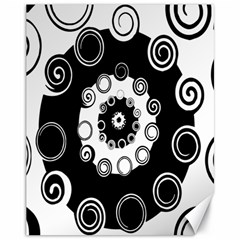 Fluctuation Hole Black White Circle Canvas 11  X 14