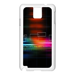 Abstract Binary Samsung Galaxy Note 3 N9005 Case (white)