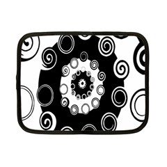 Fluctuation Hole Black White Circle Netbook Case (small)