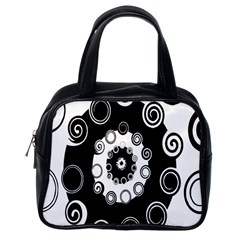 Fluctuation Hole Black White Circle Classic Handbags (one Side)