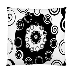 Fluctuation Hole Black White Circle Standard Cushion Case (two Sides)