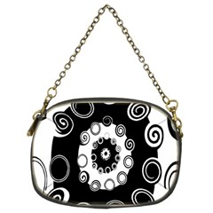 Fluctuation Hole Black White Circle Chain Purses (two Sides)