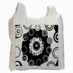 Fluctuation Hole Black White Circle Recycle Bag (two Side)