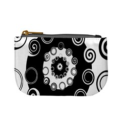 Fluctuation Hole Black White Circle Mini Coin Purses