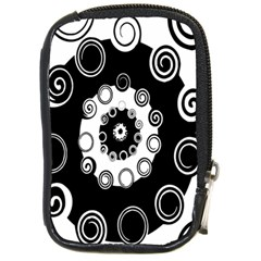 Fluctuation Hole Black White Circle Compact Camera Cases