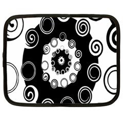Fluctuation Hole Black White Circle Netbook Case (xxl)