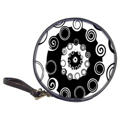 Fluctuation Hole Black White Circle Classic 20 Cd Wallets