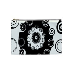 Fluctuation Hole Black White Circle Cosmetic Bag (medium)