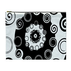 Fluctuation Hole Black White Circle Cosmetic Bag (xl)