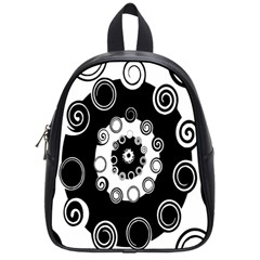 Fluctuation Hole Black White Circle School Bags (small)