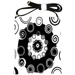 Fluctuation Hole Black White Circle Shoulder Sling Bags