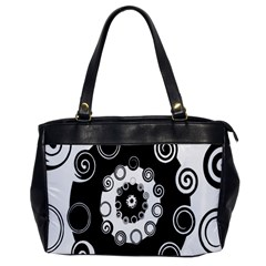 Fluctuation Hole Black White Circle Office Handbags
