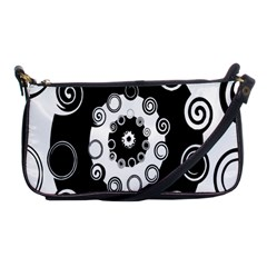 Fluctuation Hole Black White Circle Shoulder Clutch Bags