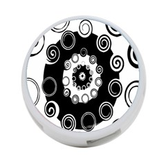 Fluctuation Hole Black White Circle 4 Port Usb Hub (two Sides)