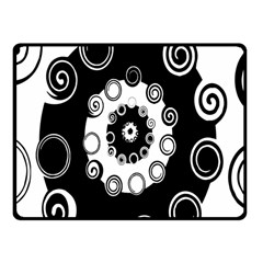 Fluctuation Hole Black White Circle Fleece Blanket (small) by Alisyart