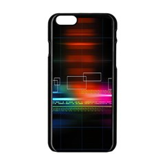 Abstract Binary Apple Iphone 6/6s Black Enamel Case by Simbadda