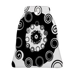 Fluctuation Hole Black White Circle Bell Ornament (two Sides)