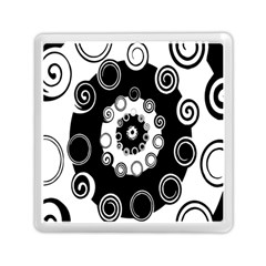 Fluctuation Hole Black White Circle Memory Card Reader (square)