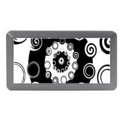 Fluctuation Hole Black White Circle Memory Card Reader (mini)