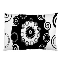 Fluctuation Hole Black White Circle Pillow Case (two Sides)