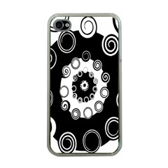 Fluctuation Hole Black White Circle Apple Iphone 4 Case (clear)