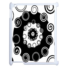 Fluctuation Hole Black White Circle Apple Ipad 2 Case (white)