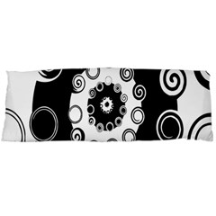 Fluctuation Hole Black White Circle Body Pillow Case Dakimakura (two Sides)